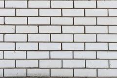 Wand von weißen Kieselsäureverbindungsziegelsteinen Stockfoto