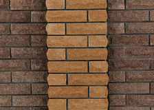 Wand von Ziegelsteinen, Hintergrund von Ziegelsteinen Lizenzfreies Stockbild