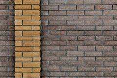 Wand von Ziegelsteinen, Hintergrund von Ziegelsteinen Lizenzfreie Stockbilder