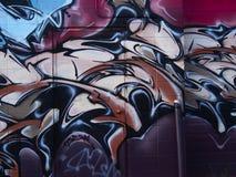 Wand-Wandgemälde mit Tür Stockfoto