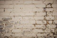 Wand wird von den Ziegelsteinen hergestellt und gemalt mit wei?er Farbe lizenzfreie stockfotos