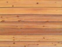 Wand zeichnete mit gewellten Holzverkleidungen der hellbraunen Farbe, voller Rahmen Lizenzfreie Stockbilder