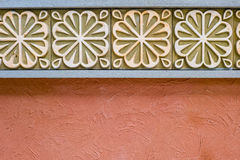 Wand-Zementblume Hintergründe u. Beschaffenheiten Stockbild