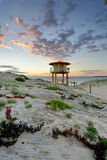 Wanda Beach Surf Life Guard  Lookout Tower at sunrise Royalty Free Stock Images