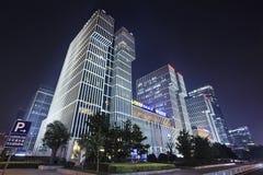 Wanda Plaza building at night, Beijing, China Stock Photography