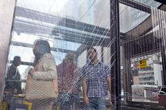 Wandalizm w Sao Paulo Metrze obraz royalty free