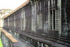 Wandansicht Kambodschas Angkor Wat ein Komplex des buddhistischen Tempels stockbild