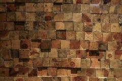 Wandbeschaffenheit des hölzernen Blockes Lizenzfreies Stockbild