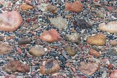 Wandbeschaffenheit des Steins und des Betons Lizenzfreie Stockfotografie