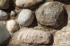 Wandbeschaffenheit von großen Steinen Stockfoto