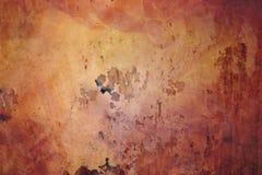 Wandbeschaffenheits-Zusammenfassungsschmutz des Hintergrundes roter ruiniert verkratzt Stockbilder