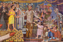 Wandbild durch Diego Rivera Lizenzfreies Stockbild
