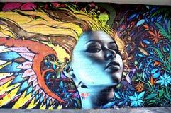 Wandbild in Haight Hasbury in San Francisco lizenzfreies stockbild