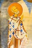 Wandbild im Kloster Rezevici, Montenegro Lizenzfreie Stockfotos