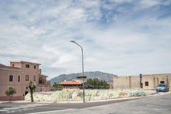 Wandbild, murales in Oliena-Dorf, Nuoro-Provinz, Insel Sardinien, Italien stockfoto