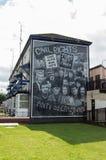 Wandbild-Straßen in Derry (LondonDerry) lizenzfreies stockbild