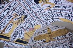 Wandbild und Dekoration des Grabs Lizenzfreies Stockfoto