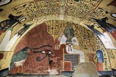 Wandbild und Dekoration des tombÑŽ Luxor, Ägypten lizenzfreie stockfotografie