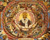 Wandbild vom Rilski Kloster lizenzfreie stockfotos