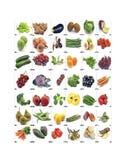 Wandbild von Obst und Gemüse von lizenzfreies stockfoto