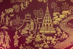 Tempel-Wandbild - Chiang Mai - Thailand Stockfotografie