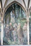 Wandbild Zürich, Kloster Fraumuenster stockbilder