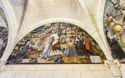 Wandbilder in der Abtei Stockbilder