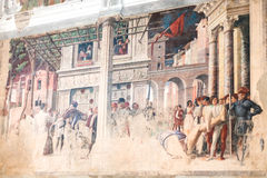 Wandbilder in der Kirche von Eremitani in Padua Stockfotografie