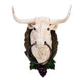 Wanddekoration als Stier ` s Kopf Lizenzfreie Stockbilder