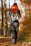 Wandelaar in de Herfst Royalty-vrije Stock Foto's