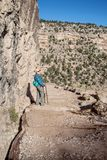 Wandelaar op Helder Angel Trail stock fotografie
