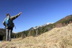 Wandelaar op manier Royalty-vrije Stock Foto's