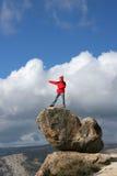 Wandelaar in Yosemite Royalty-vrije Stock Foto