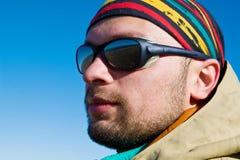 Wandelaar in zonnebril Royalty-vrije Stock Foto's