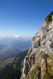 Wandelend in de Beierse alpen, Duitsland stock fotografie