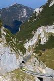 Wandelend in de Beierse alpen, Duitsland royalty-vrije stock foto's
