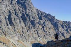 Wandelend in het Hoge Nationale Park van Tatras, Slowakije Stock Foto