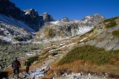 Wandelend in het Hoge Nationale Park van Tatras, Slowakije Royalty-vrije Stock Afbeelding