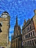 Wandelend in koninklijke mijl, Edinburgh stock fotografie