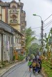 Wandelend in Sa-Pa, Vietnam stock afbeeldingen