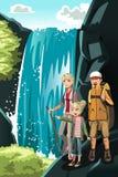 Wandelende familie vector illustratie