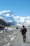 Wandeling aan Everest stock foto
