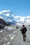 Wandeling aan Everest stock foto