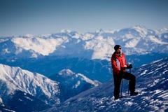 Wandeling in Alpen Stock Afbeelding