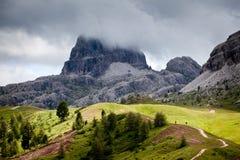 Wandeling in de Alpen Royalty-vrije Stock Fotografie