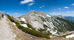 Wandeling in de Alpen Stock Fotografie