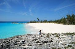 Wandeling in de Bahamas Stock Foto