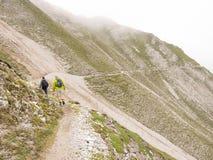 Wandeling in de Oostenrijkse alpen Royalty-vrije Stock Fotografie