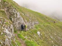 Wandeling in de Oostenrijkse alpen Stock Foto's
