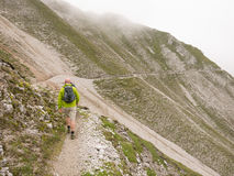 Wandeling in de Oostenrijkse alpen Royalty-vrije Stock Foto
